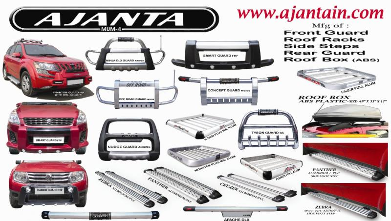 AJANTA-FRONT-GUARD-ROOF-RACKS-SIDE-STEPS-REAR-GUARD-ROOF-BOX-MANUFACTURE-INDIA.
