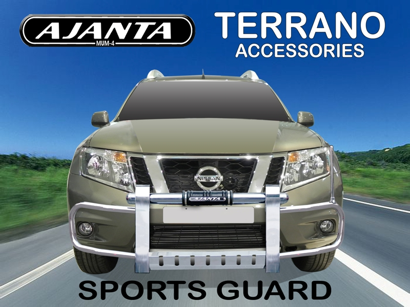 AJANTA-GUARD-NISSAN-TERRANO-SPORT-GUARD-STEEL-BUMPER-GUARD.-TERRANO-ACCESSORIES.