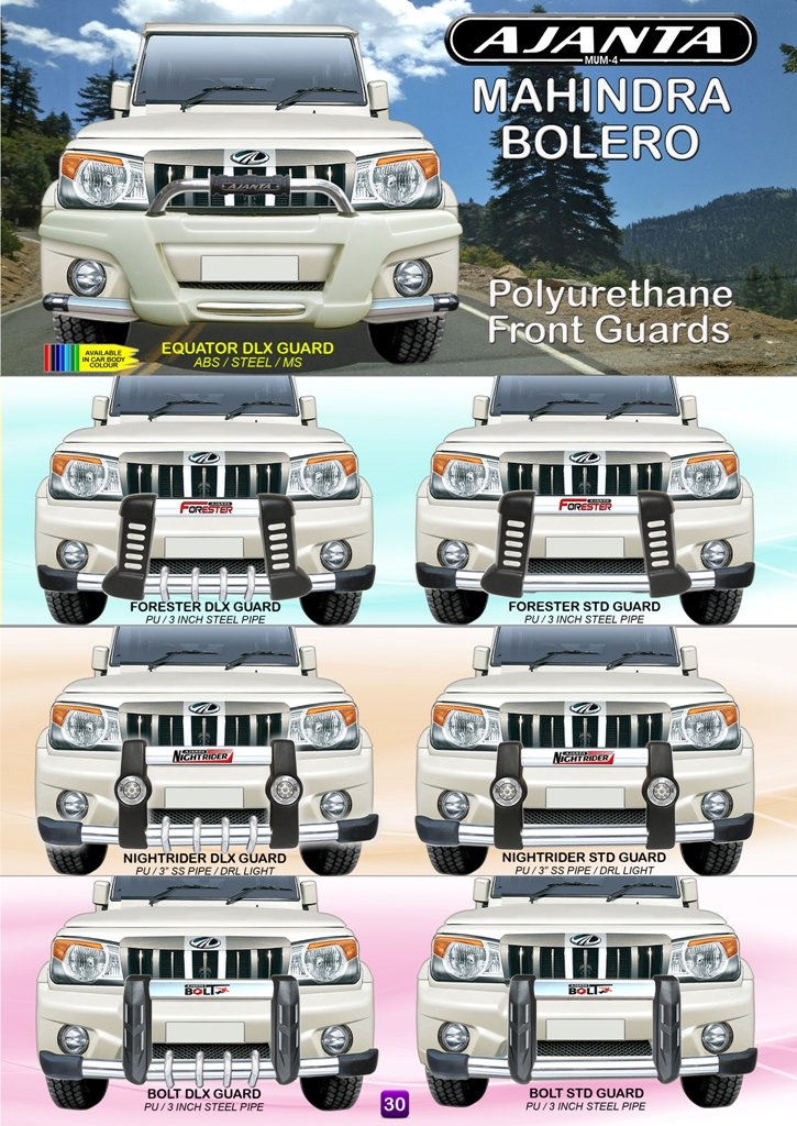 BOLARO PU FRONT GUARD WITH LIGHT STEEL PIPE AJANTA ROOF RACK-CARRIER MFG  MUMBAI