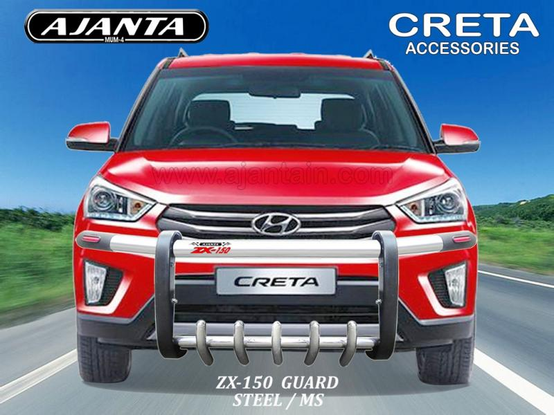 CRETA ACCESSORIES FRONT GUARD STEEL MS GUARD ZX150 AJANTA CRETA BUMPER GUARD-MUM