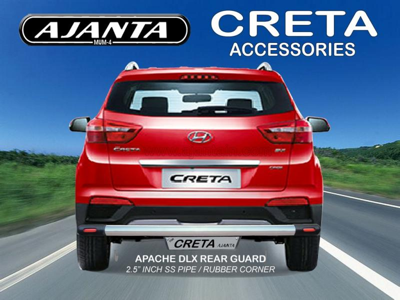 CRETA BACK GUARD APACHE DLX 2.5 INCH STEEL PIPE REAR GUARD AJANTA MUMBAI. RAKESH