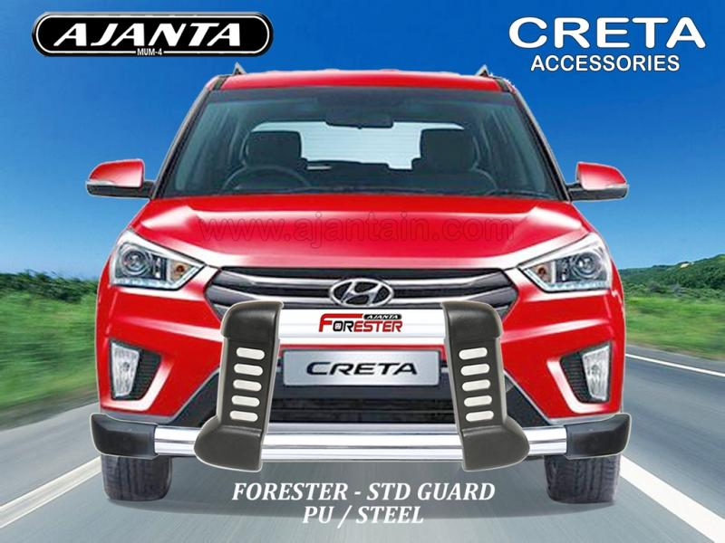 CRETA FRONT BUMPER GUARD PU STEEL GUARD FORESTER-CRETA ACCESSORIES MANUFACTURERS