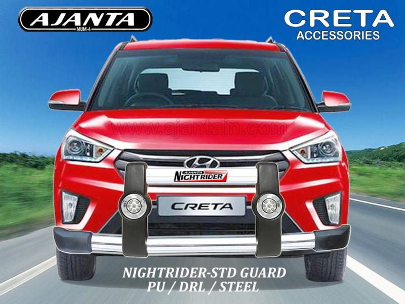CRETA FRONT GUARD PU-DRL-STEEL GUARD NIGHTRIDER STD AJANTA GUARDS ROOF RACKS MFG