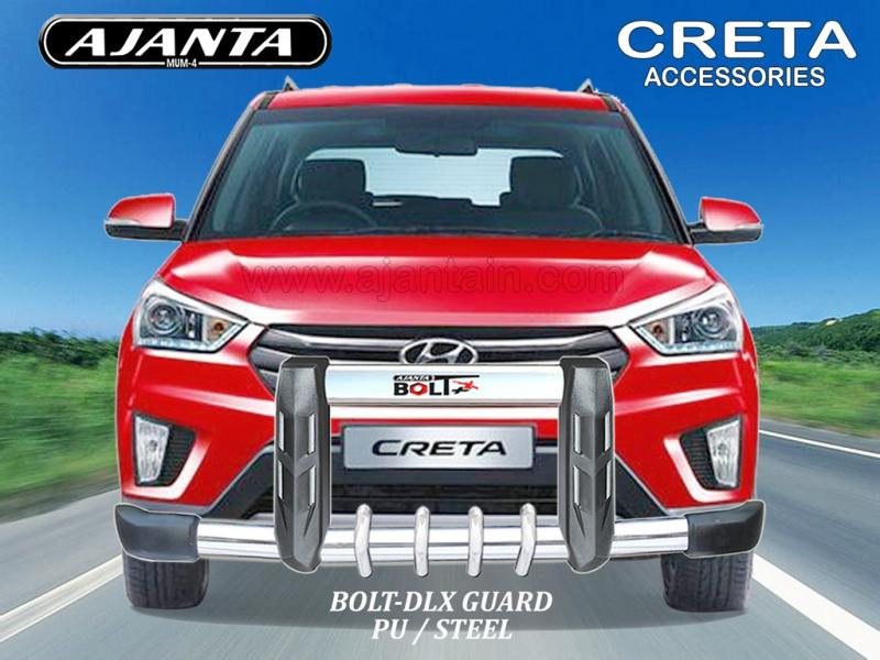 CRETA FRONT GUARD PU STEEL GUARD BOLT DLX AJANTA FRONT GUARD MANUFACTURERS-INDIA