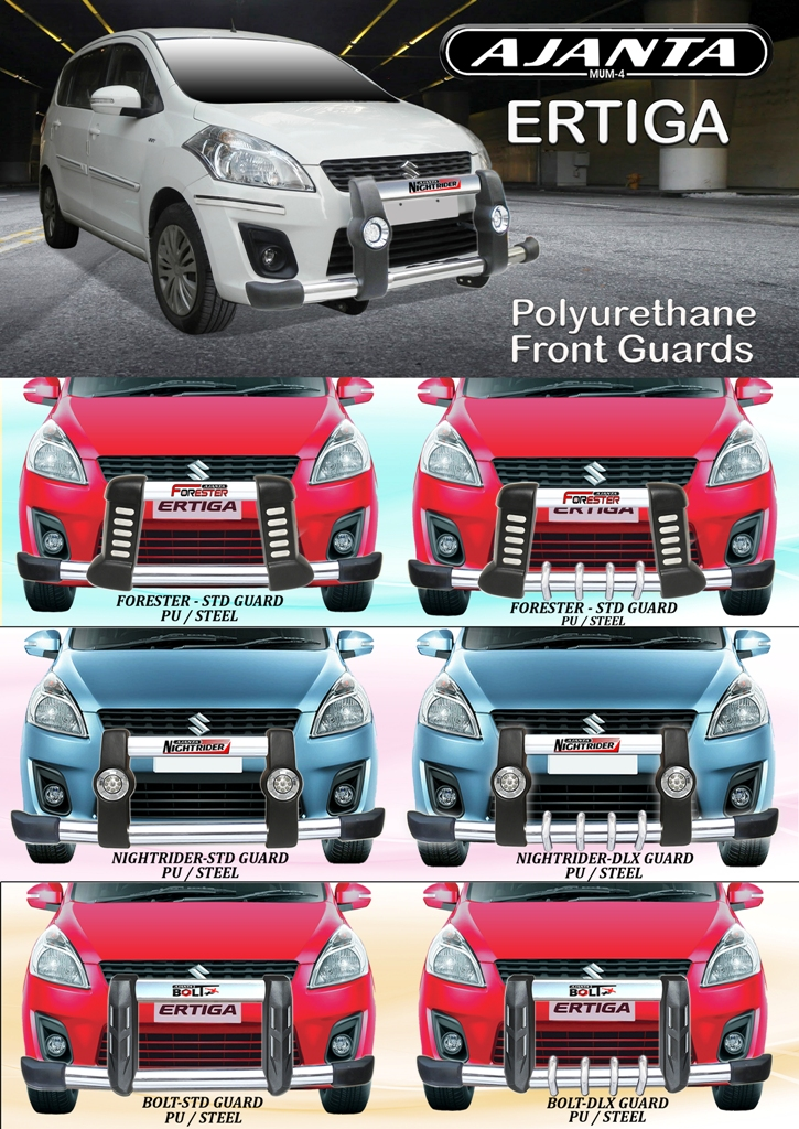 FRONT-GUARDS-ERTIGA-GUARD-FRONT-BUMPER-GUARD-SAFTY-GUARD-PU-GUARD-AJANTA-RAKESH.