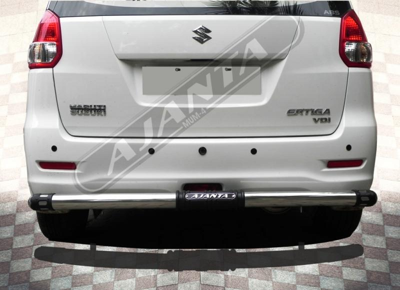 ERTIGA_DECENT_rear_guard_steel_ss pipe_rear bumper guard_protction guard_ajanta
