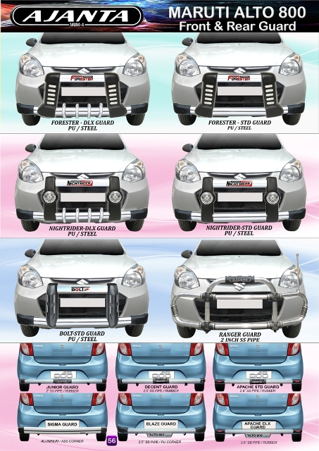 FRONT-BUMPER-GUARD-FOR-MARUTI-ALTO-800-AJANTA-GUARD-CAR-ROOF-LUGGAGE-CARRIER-MFG