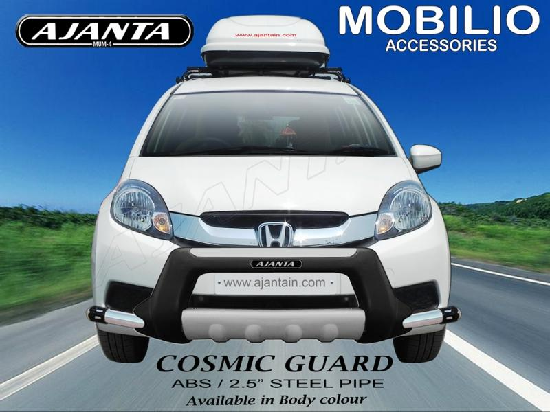 FRONT-GUARD-FOR-HONDA-MOBILO-COSMIC-FRONT-BUMPER-GUARD-AJANTA-RAKESH-MISTRY-MUM.