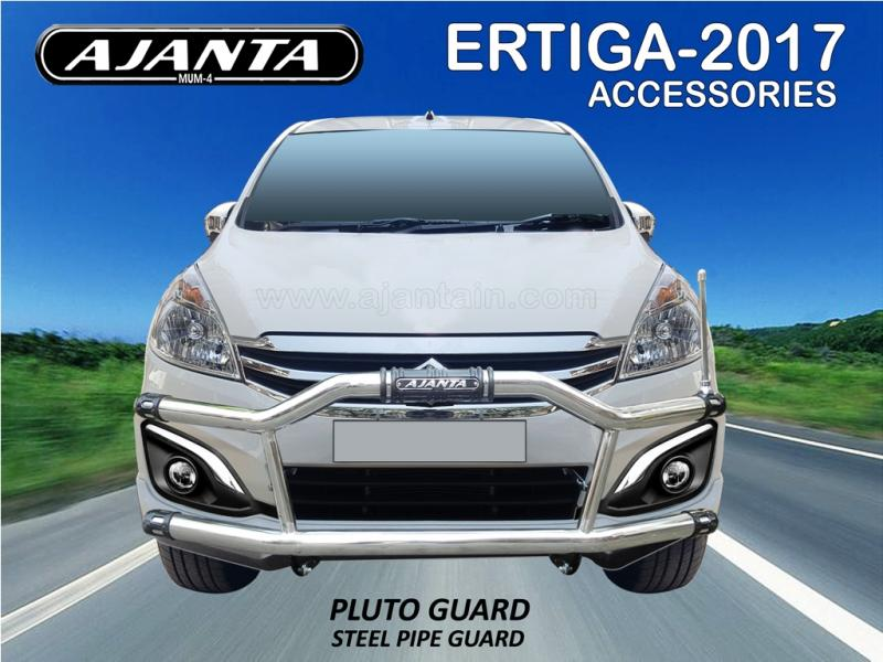 FRONT BUMPER GUARD FOR NEW ERTIGA-STEEL PIPE SAFETY GUARD-PLUTO GUARD-AJANTA-IND