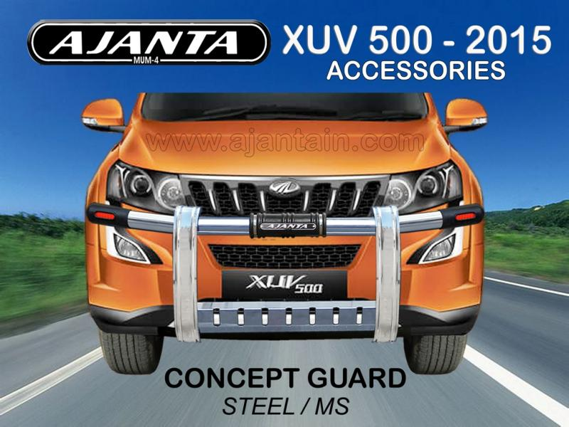 FRONT GUARD CONCEPT STEEL-MS GUARD FOR NEW XUV 500 2015. AJANTA GUARD-ROOF RACKS