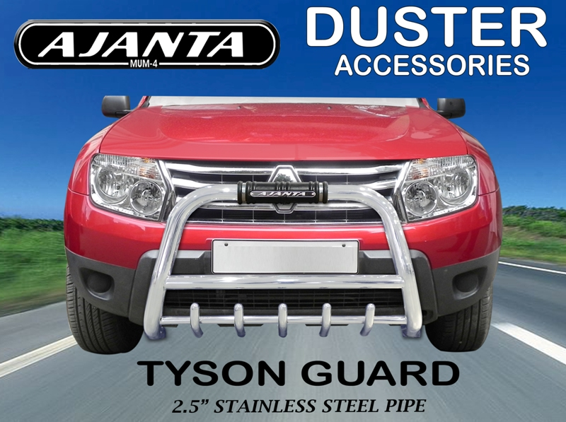 FRONT_GUARD_DUSTER_ACCESSOROES_TYSON_3 INCH_SS_GUARD_DUSTER_BUMPER_SAFTY_GUARD.