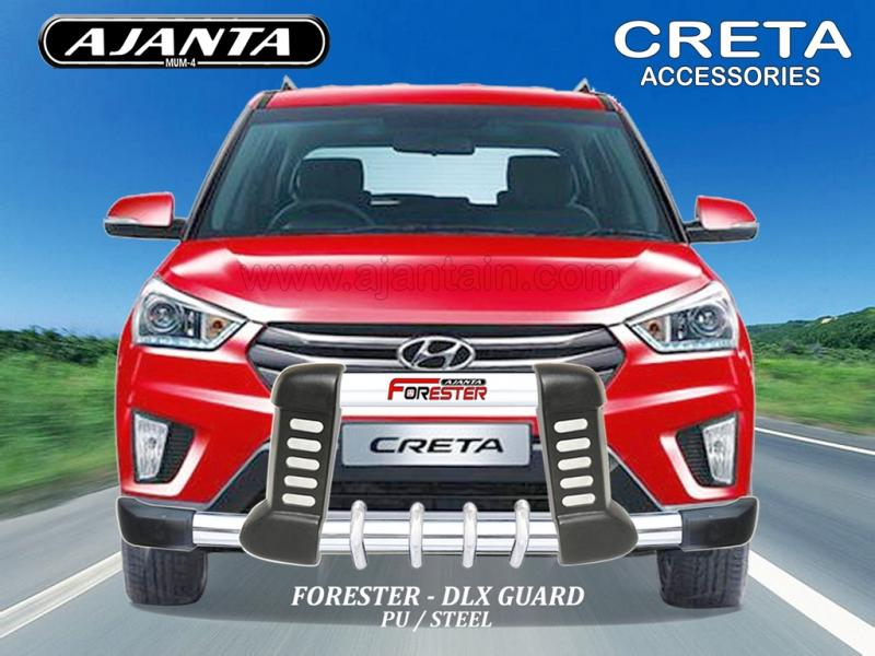 Image:  FRONT GUARD FOR CRETA - PU STEEL GUARD-FORESTER DLX-GUARD MANUFACTURERS
