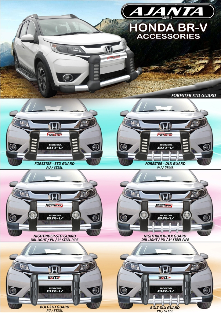 PU-FRONT GUARD FOR HONDA BRV-STEEL-FRONT-BUMPER-GUARD-AJANTA-GUARD-INDIA,