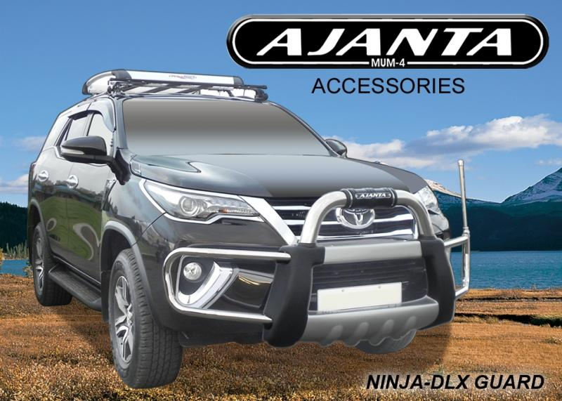 FRONT GUARD FOR TOYOTA FORTUNER FRONT BUMPER GUARD AJANTA NINJA DLX. BODY COLOUR