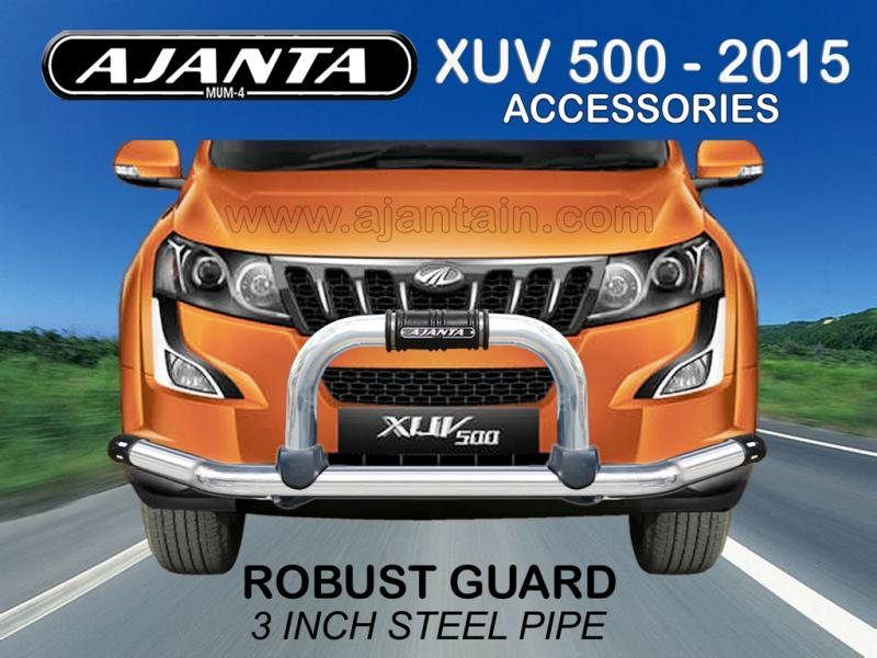 FRONT GUARD ROBUST GUARD SS PIPE FOR NEW XUV 500 2015. AJANTA GUARD-CAR ROOFRACK