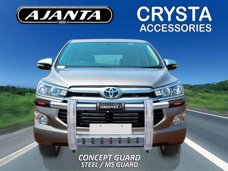 FRONT STEEL GUARD FOR INNOVA CRYSTA CONCEPT FRONT SS GUARD FOR NEW INNOVA 2016.