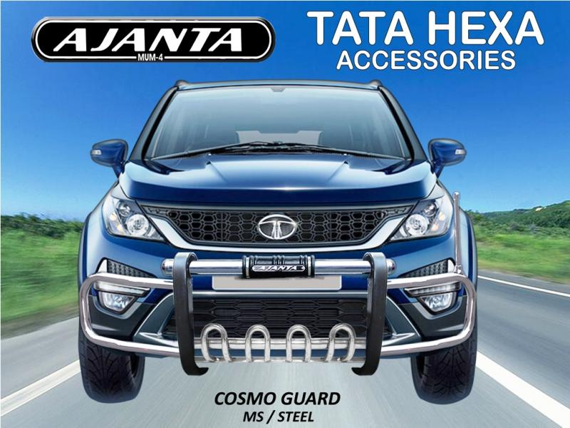 HEXA BUMPER GUARD COSMO FRONT GUARD FOR TATA HEXA-AJANTA GUARD-MANUFACTURE-INDIA