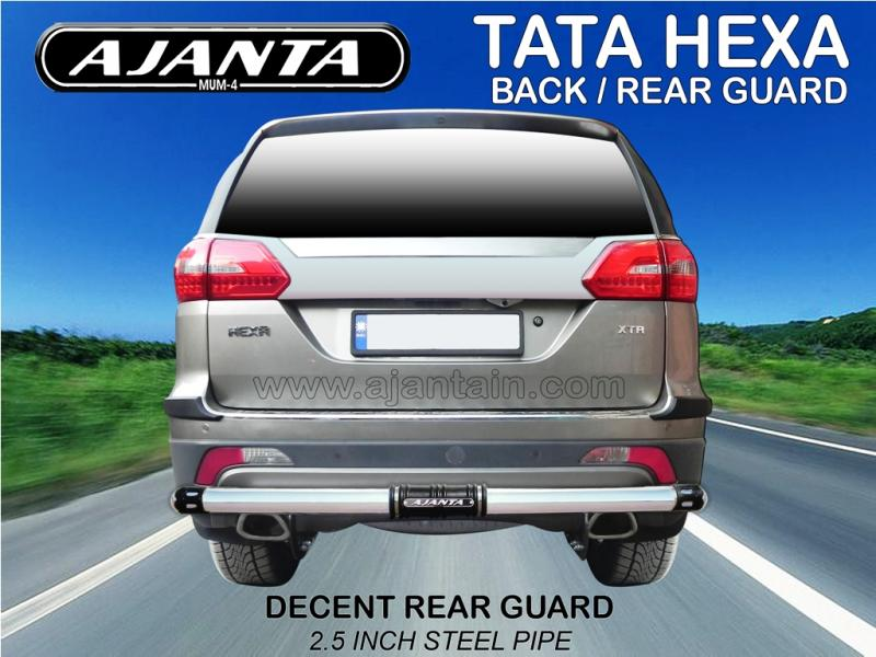 TATA HEXA DECENT REAR GUARD-BACK BUMPER GUARD-AJANTA GUARD MANUFACTURE-MUMBAI