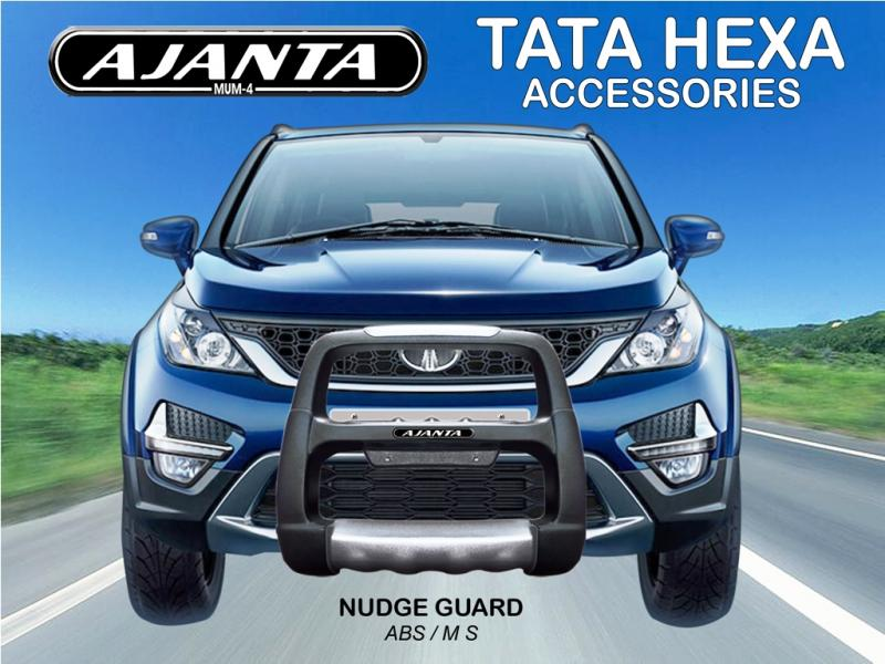 HEXA ACCESSORIES KIT-HEXA NUDGE GUARD-ABS FRONT GUARD FOR TATA HEXA-AJANTA GUARD