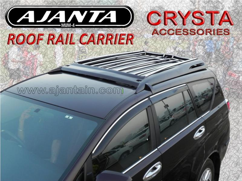 AJANTA INNOVA CRYSTA ROOF RAIL BODY COLOR CARRIER AJANTA ROOFRAIL CARRIER MUMBAI