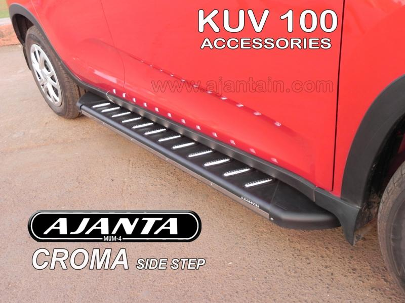 KUV100-SIDE-STEPS-RUNNING-BOARD-CROMA-AJANTA-SIDE-STEP-AJANTA-ACCESSORIES-MUMBAI