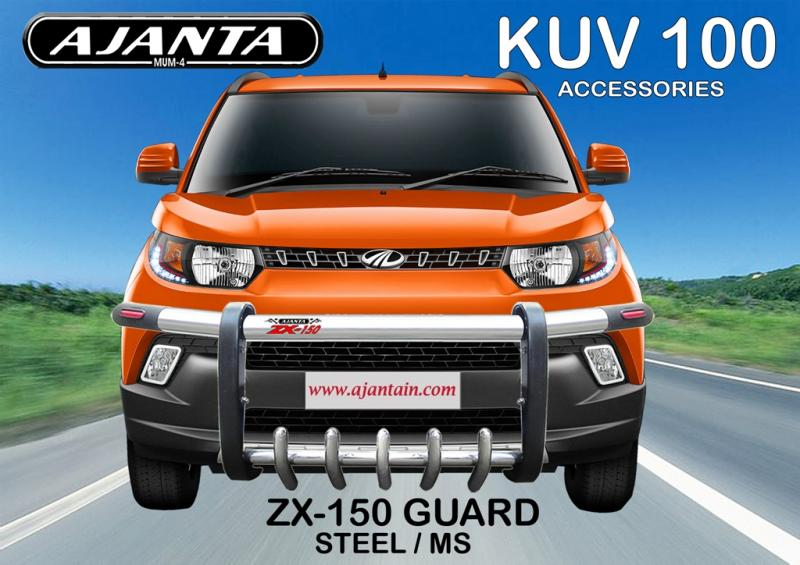 MAHINDRA-KUV100-LATEST-FRONT-BUMPER-GUARD-FOR-KUV-100-ZX150-GUARD-AJANTA-MUMBAI.