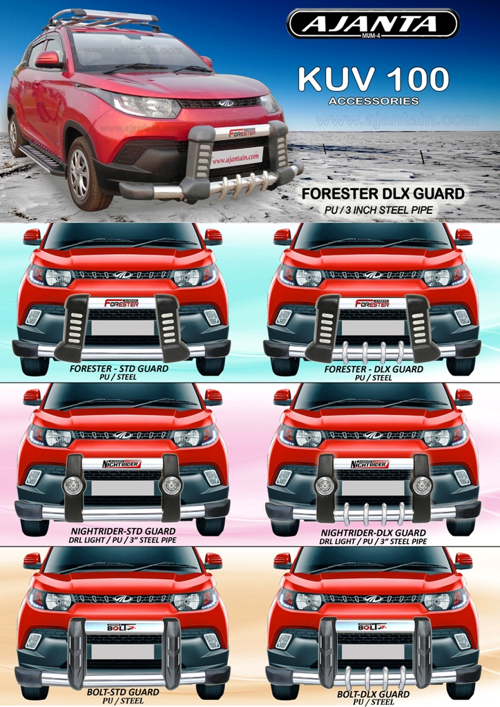 mahindra-KUV100-front-bumper-guard-for-kuv100-safety-guard.ajanta-guard-mumbai