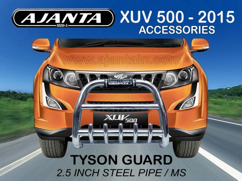 LATEST FRONT GUARD TYSON STEEL GUARD. NEW XUV 500 W10 AJANTA GUARDS ROOF RACKS