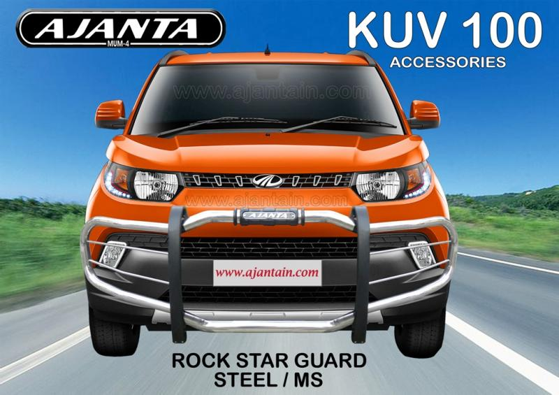 MAHINDRA KUV 100 ROCK STAR FRONT GUARD STEEL PIPE FRONT BUMPER GUARD-AJANTA-MUM