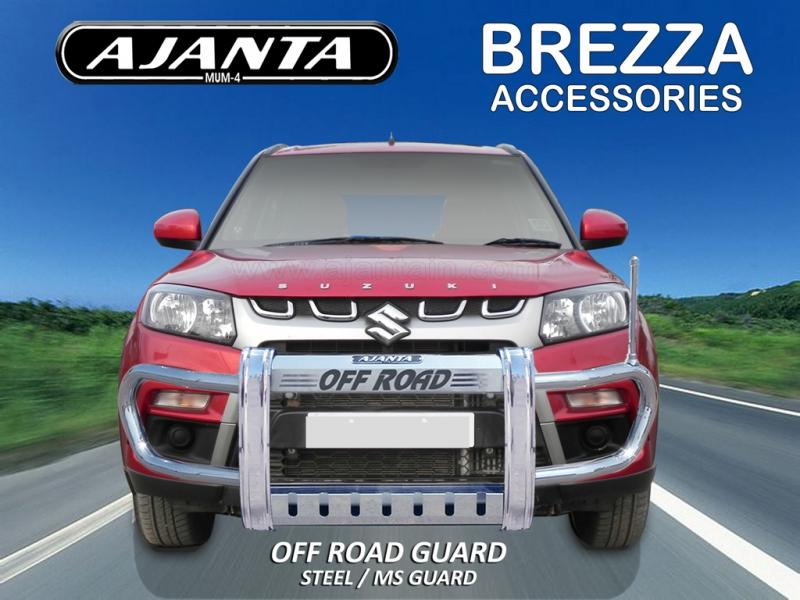 MARUTI-BREZZA-FRONT-GUARD-STEEL-FRONT-BUMPER-GUARD-OFFROAD GUARD MANUFACTURE-MUM