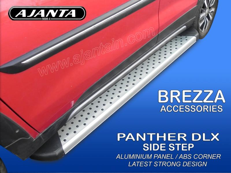 MARUTI-BREZZA-SIDE-RUNNING-BOURD-SIDE-STEPER-PANTHER-ALUMINUM-SIDE-STEP-AJANTA.