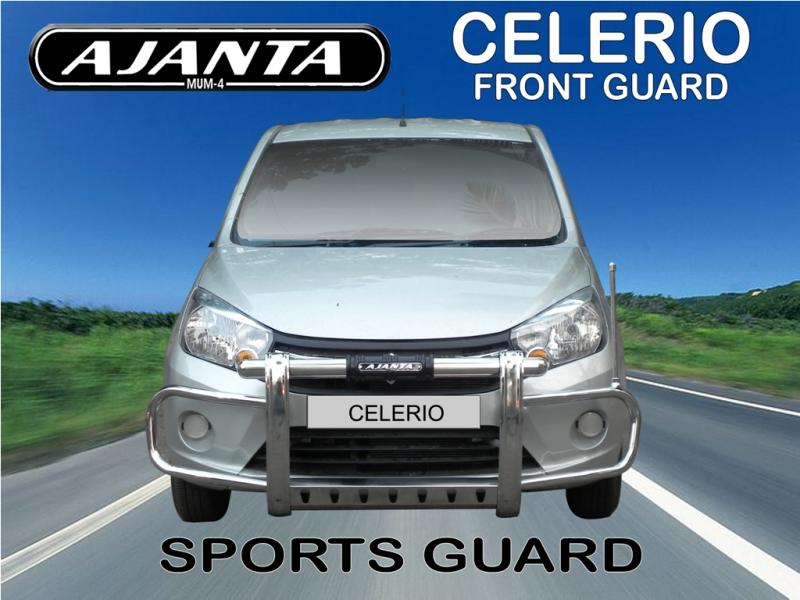 MARUTI-CELERIO-FRONT GUARD-SPORTS-GUARD-FOR-CELERIO-STEEL-FRONT-BUMPER-GUARD-MUM