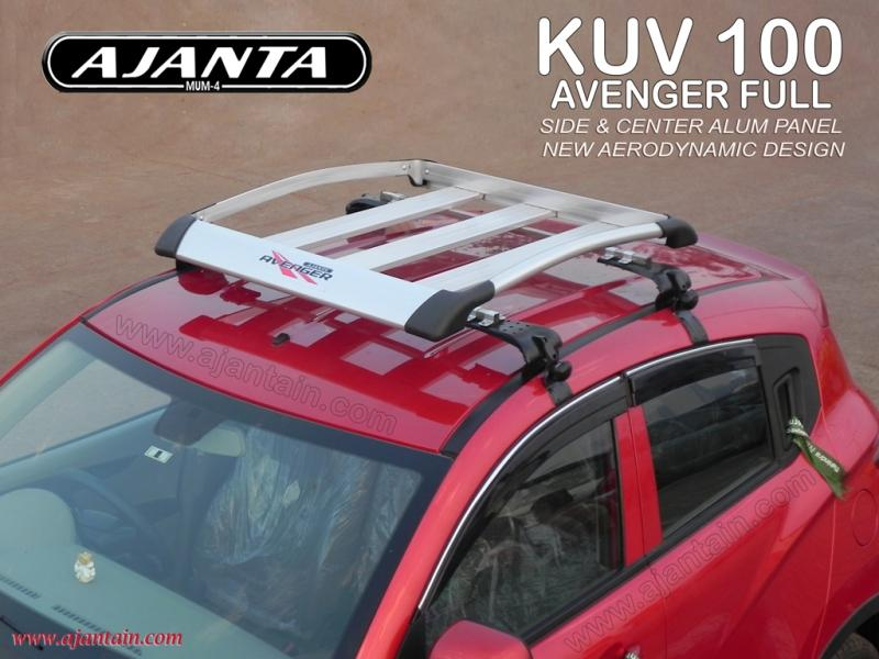 Mahienda-kuv-100-roof-rack-luggage-carrier-Avanger full-Aluminum-carrier-ajanta.