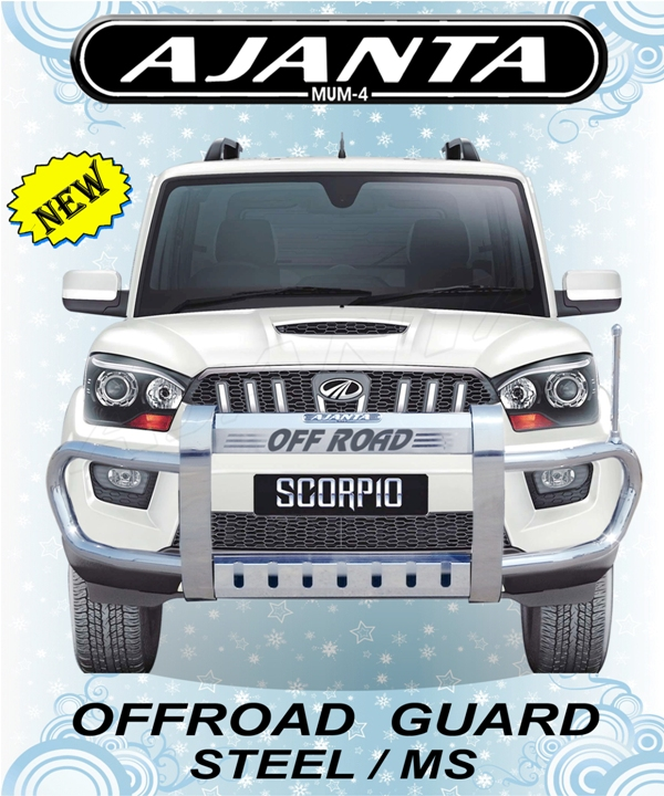 NEW-FRONT-GUARD-FOR-NEW-SCORPIO-OFFROAD-GUARD-STEEL-FRONT-SAFETY-GUARD-AJANTA