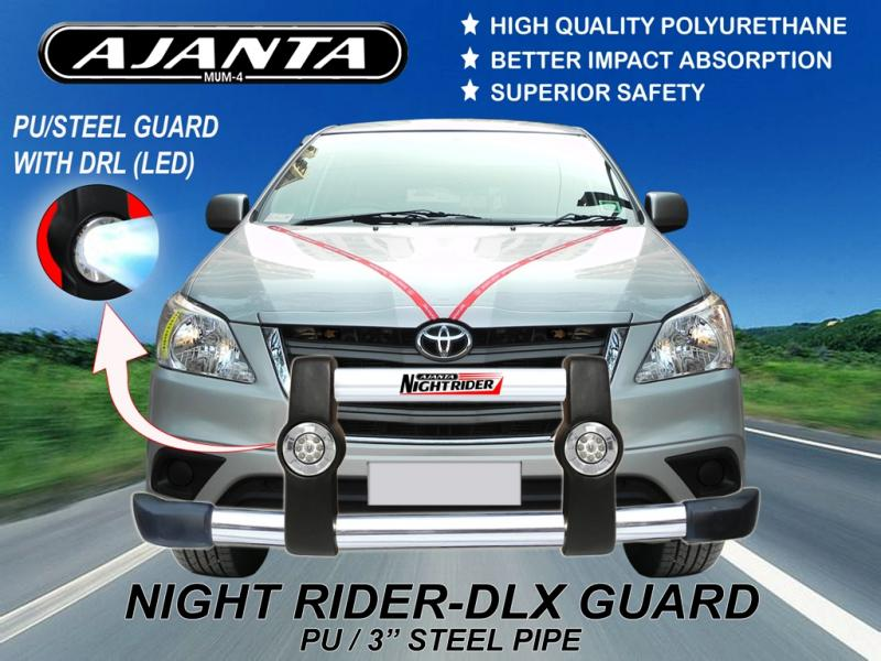 PU-GUARD-DRL-LIGTH-LED-SS-GUARD-INNOVA-NIGHTRIDER-STD-GUARD-AJANTA-ENT-MUMBAI-