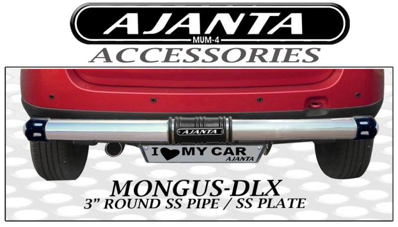 REAR-GUARD-MONGUS-DLX-FOR DUSTER-BACK-GUARD-STEEL-PIPE-AJANTA-MUMBAI.3INCH-STEEL