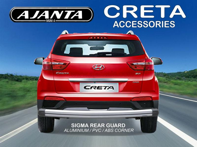 NEW REAR BUMPER GUARD FOR CRETA SIGMA LATEST ALUMINUM BACK GUARD AJANTA MUMBAI.