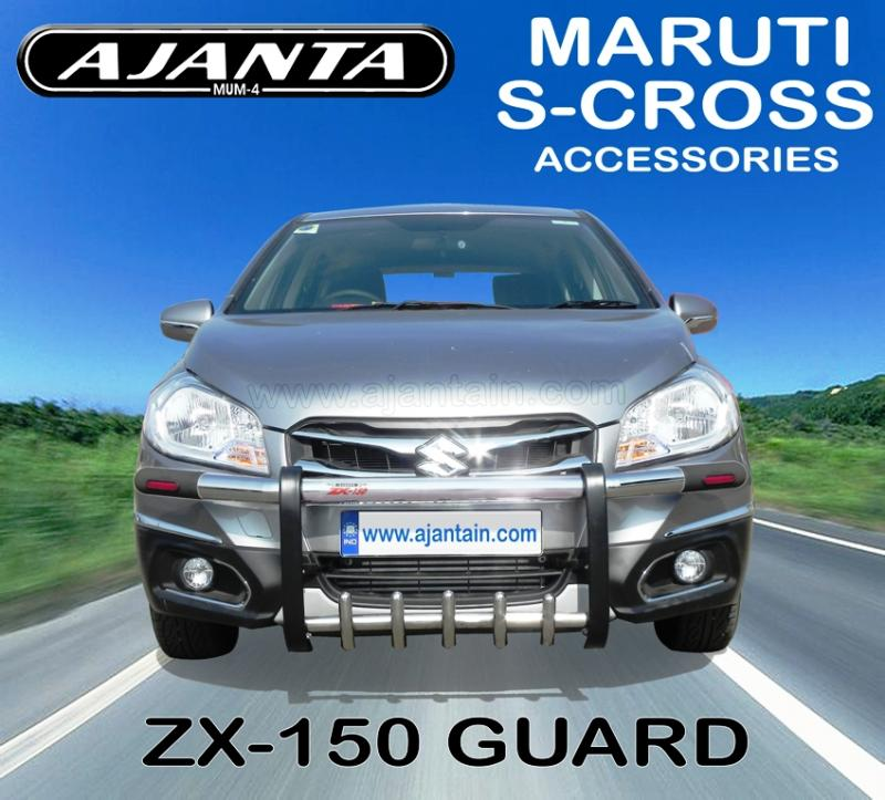 S-CROSS FRONT GUARD-AJANTA ACCESSIRIES FOR MARUTI S-CROSS-GUARD MFG IN MUMBAI.