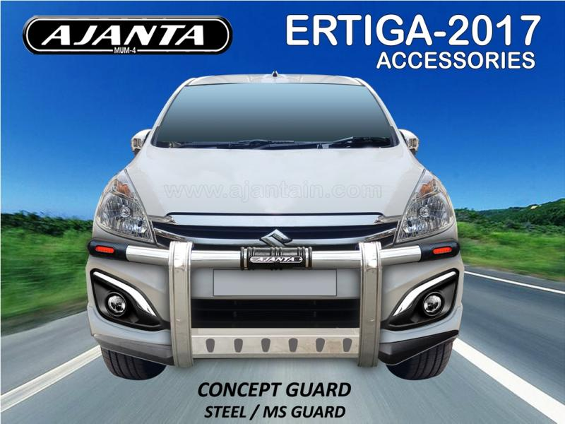 SAFETY GUARD FOR NEW ERTIGA WITH SKIRTING- CONCEPT GUARD-SS FRONT GUARD FOR MUV.