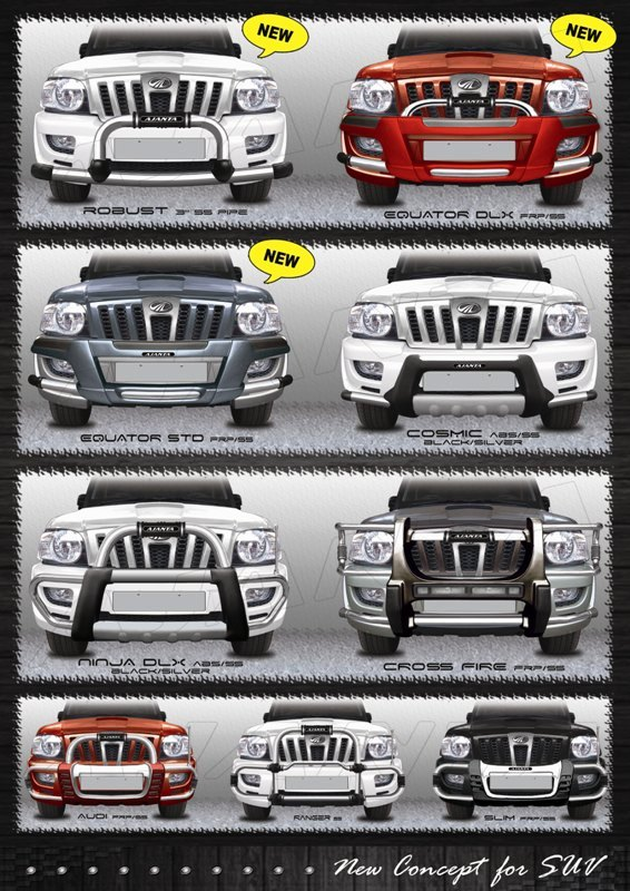 SCORPIO_bull_GUARD_ABS GUARD_NEW FRONT BUMPER GUARD_MANUFACTURE BY AJANTA_MUMBAI