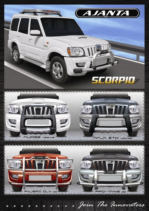 SCORPIO_front_guard_ SAFTY GUARD_BUMPER _FANCY GUARD_STEEL GUARD_SS GUARD_AJANTA