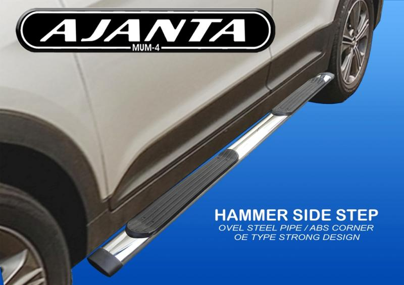 SIDE FOOT STEPS FOR HYUNDAI CRETA STEEL PIPE SIDE GUARD, CRETA ACCESSORIES, MUM