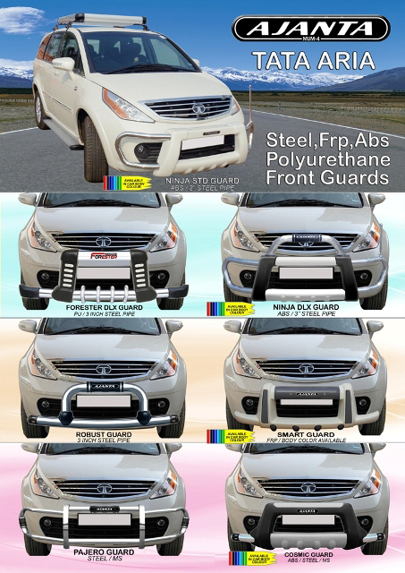 TATA ARIA FRONT GUARD MANUFACTURE FRONT CRASH GUARD FOR TATA ARIA. AJANTA GUARD.