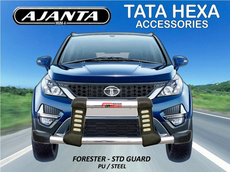 TATA HEXA ACCESSOREIES KIT- FRONT GUARD FORESTER STD-POLYURETHANE-BUMPER GUARD.
