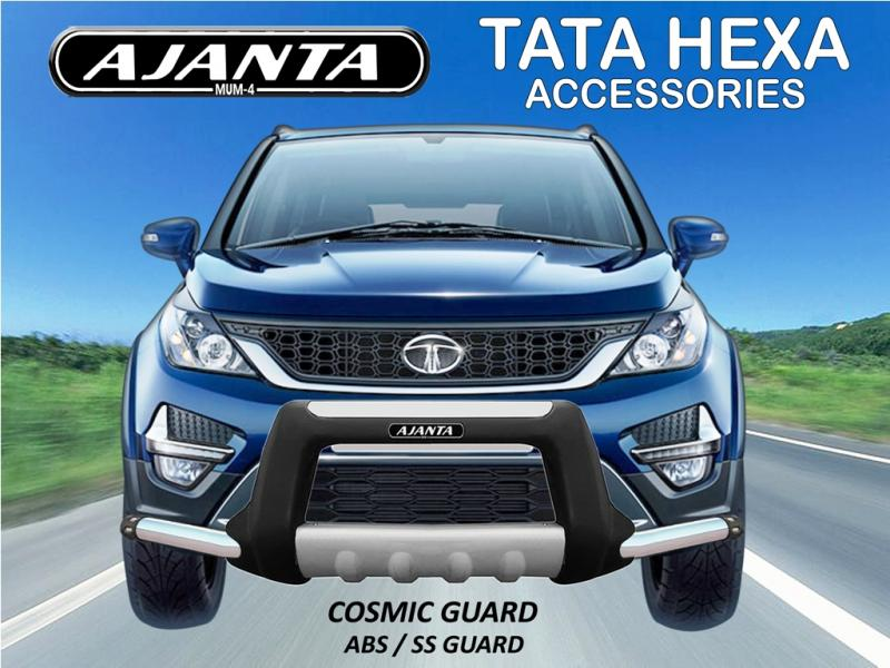 TATA HEXA ACCESSORIES FRONT GUARD-ABS FRONT BUMPER GUARD-COSMIC GUARD-AJANTA-MUM