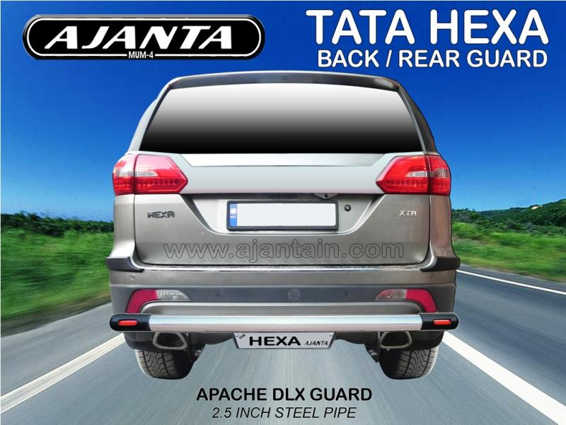 TATA HEXA ACCESSORIES-BACK GUARD-REAR GUARD-APACHE DLX REAR GUARD-AJANTA MUMBAI.