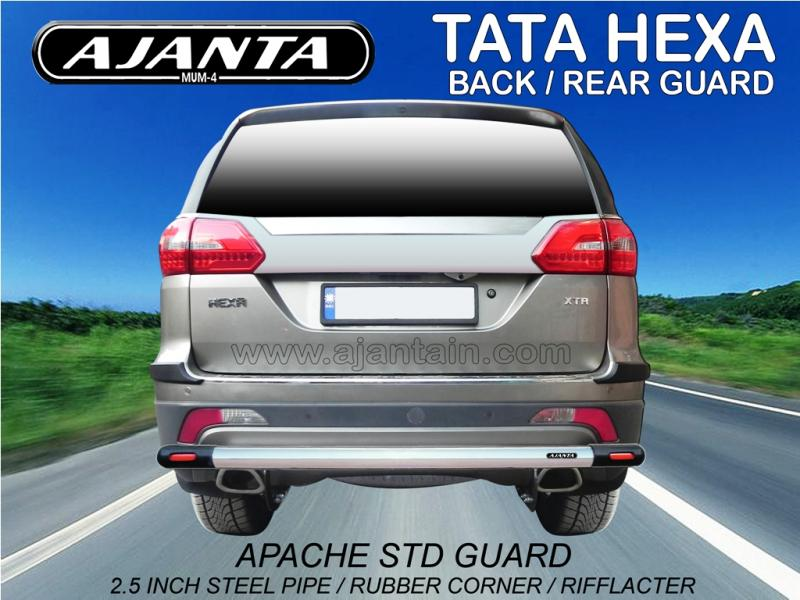 TATA HEXA LATEST ACCESSORIES-BACK GUARD-REAR GUARD-APACHE REAR GUARD-AJANTA.
