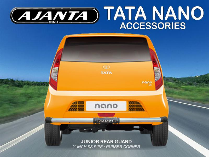 TATA NANO rear guard juniour back guard for tata nano steel pipe. Ajanta guard.