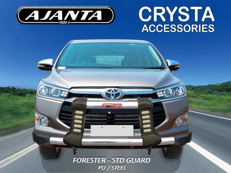 TOYOTA-INNOVA-CRYSTA PU-STEEL FRONT GUARD-AJANTA-FORESTER FRONT GUARD MANUFACTUR