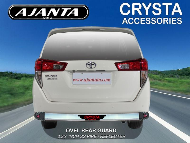 TOYOTA INNOVA CRYSTA ACCESSORIES-BACK GUARD OVEL REAR GUARD STEEL PIPE-AJANTAIN.